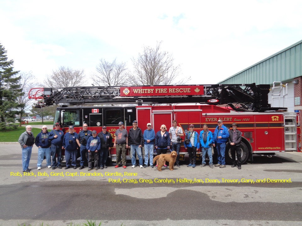 05/11th, 2019 Photo Tour Whitby Fire and Emergency Services OFBA Members Group Picture.